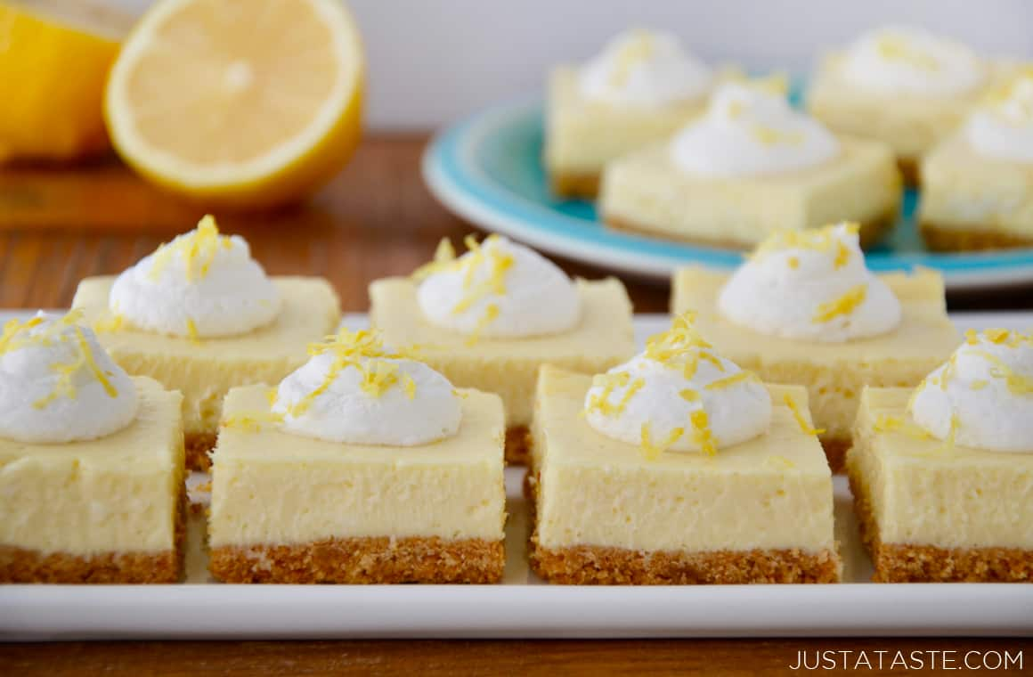 Easy Lemon Cheesecake Bars Just A Taste