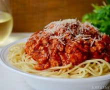 Quick Spaghetti Bolognese with Turkey