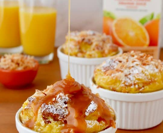Tropical Brioche Bread Pudding
