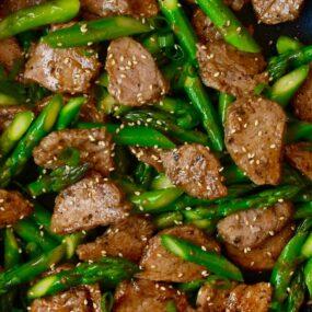Quick Black Pepper Pork in skillet