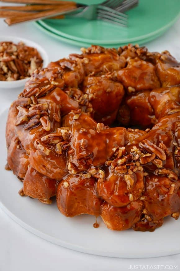 The best monkey bread studded with pecans