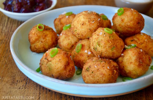 Leftover Mashed Potato Balls on serving plate