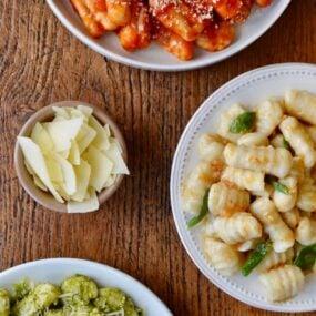 Leftover Mashed Potato Gnocchi three ways