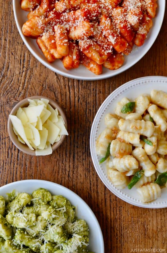 Leftover Mashed Potato Gnocchi three ways