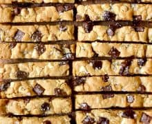Chewy Chocolate Chip Cookie Sticks