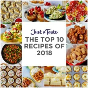 A collage of the Top 10 Recipes of 2018 on Just a Taste