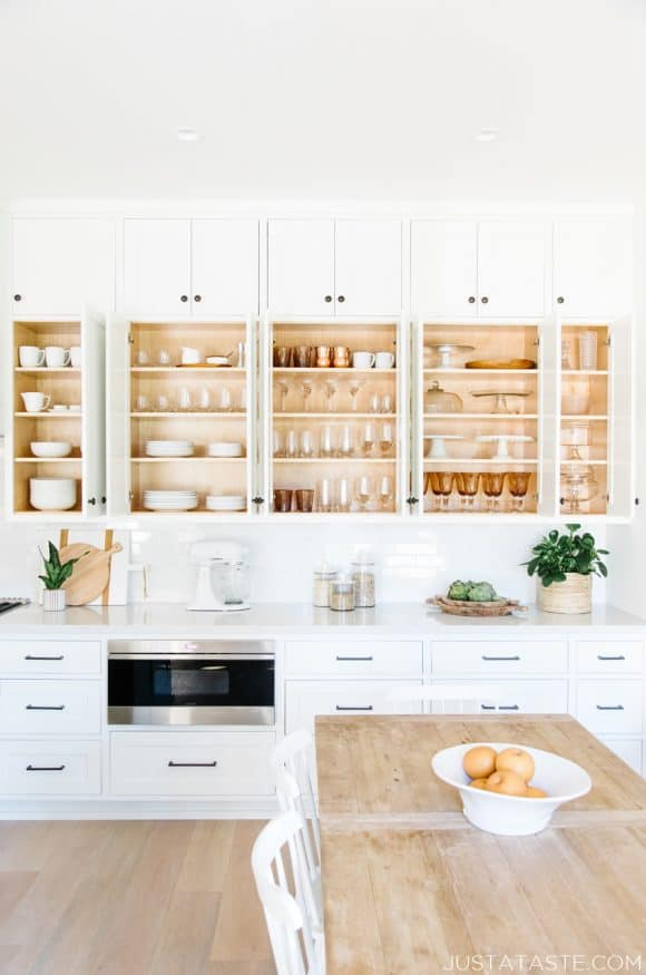 The Just a Taste kitchen cupboards and prop closet