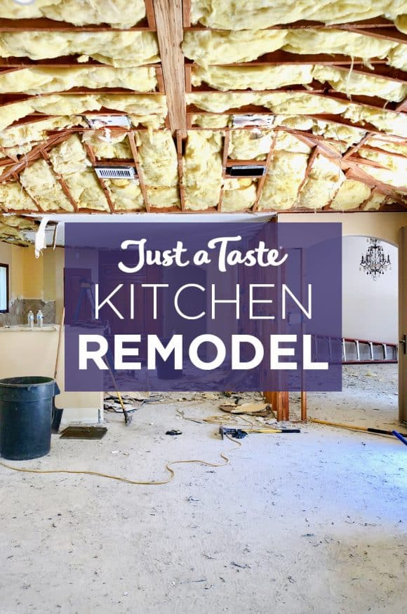 A kitchen remodel with the floors and ceilings demo'd