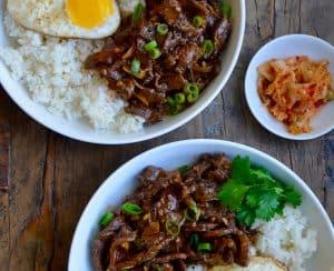 Easy Beef Bulgogi Bowls