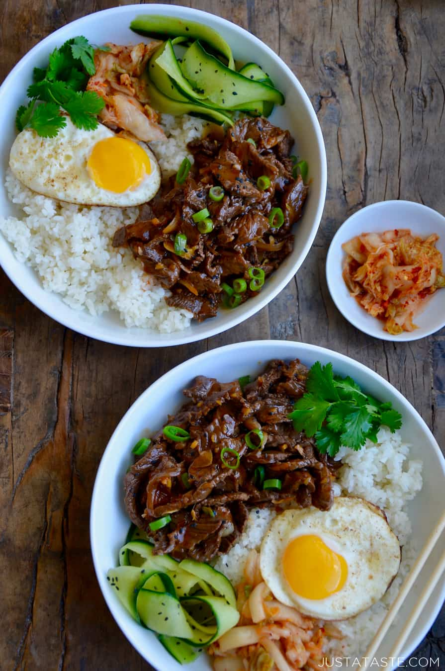 Easy Beef Bulgogi Bowls Just A Taste
