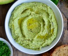 Green Goddess Avocado Hummus