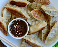Pork Potstickers with Citrus-Soy Dipping Sauce