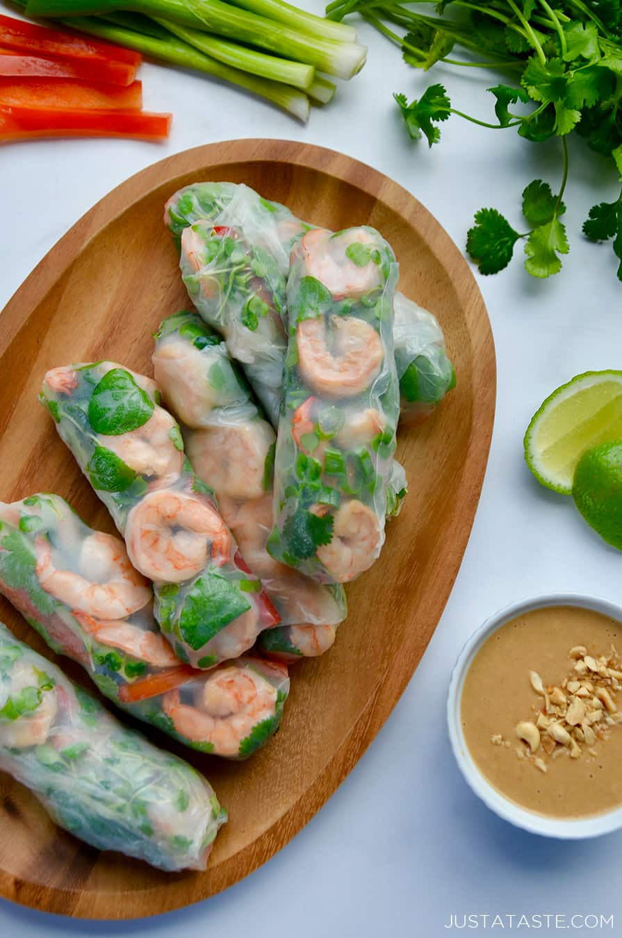 Thai Spring Rolls With Peanut Sauce Just A Taste