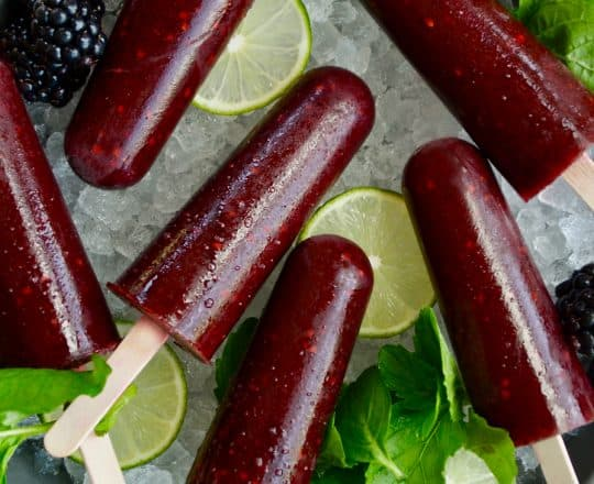 Blackberry Mojito Popsicles