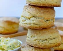 Easy Homemade Buttermilk Biscuits with Honey Butter