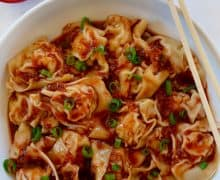 Spicy Chicken Wontons