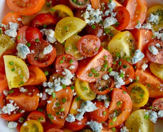 Steakhouse Tomato Salad with Blue Cheese