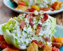 Iceberg Wedge Salad with Buttermilk Dressing