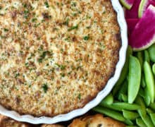 Warm and Cheesy Onion Dip