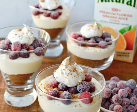 No-Bake Orange Cranberry Cheesecake Parfaits