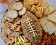 Bacon-Cheddar Football Cheese Ball