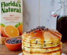 Orange Ricotta Chocolate Chip Pancakes