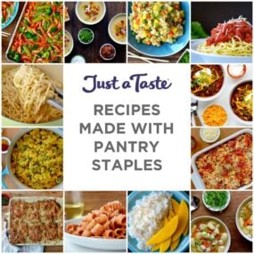 A collage of recipes all made with pantry staples
