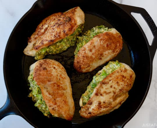 Broccoli-Cheddar Stuffed Chicken Breasts