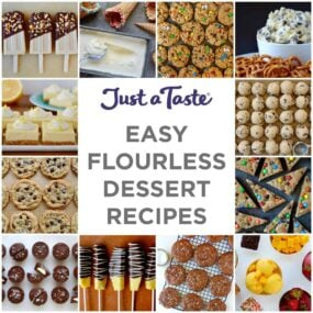 Collage of Easy Flourless Desserts Recipes