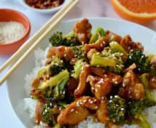 Quick Orange Chicken and Broccoli