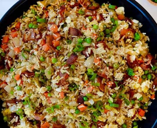 One-Pan Bacon and Egg Fried Rice