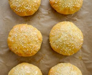 Quick Homemade Burger Buns Without Yeast