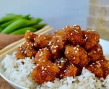 Crispy Baked Sesame Chicken