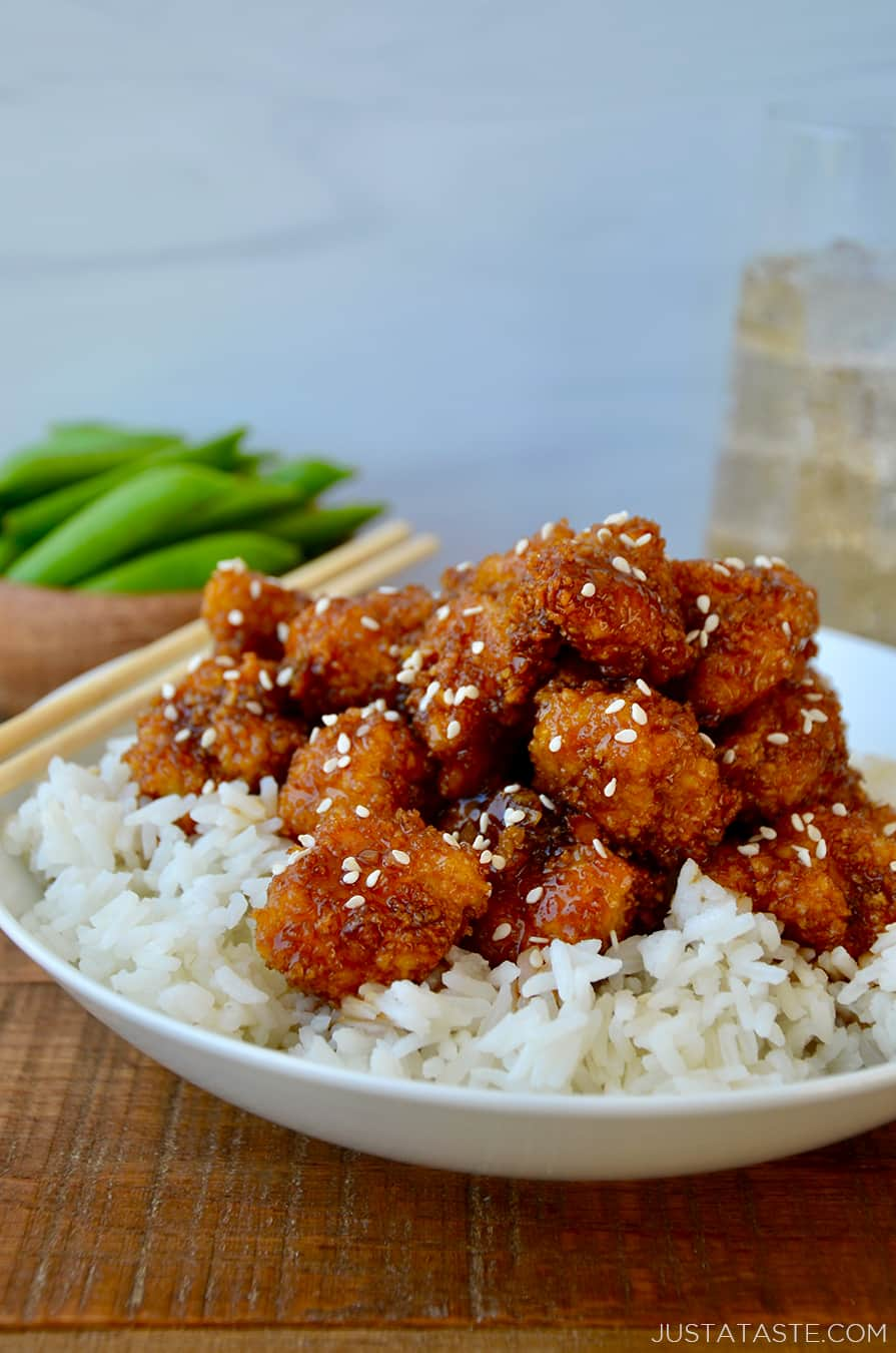 Crispy Baked Sesame Chicken Just A Taste