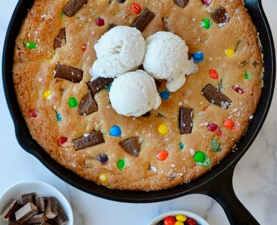 The Ultimate Candy Skillet Cookie