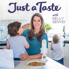 Kelly Senyei and kids on The Just a Taste Podcast