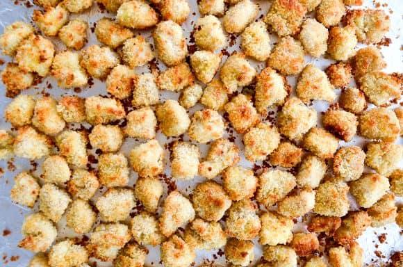 Crispy baked popcorn chicken