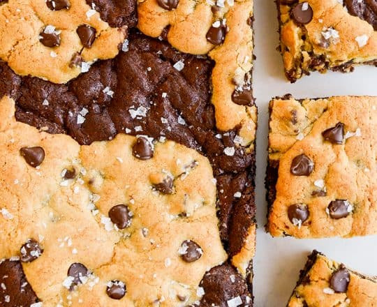 Chocolate Chip Cookie Brownies (Brookies)