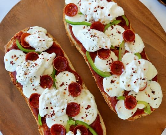 The Best French Bread Pizza with Burrata