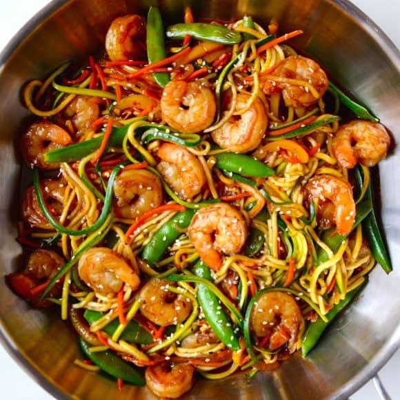Asian Zucchini Noodle Stir-Fry recipe