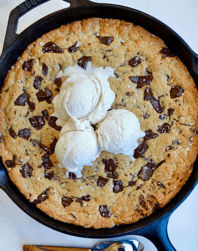 The Ultimate Skillet Chocolate Chip Cookie