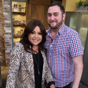 Producer Glenn Milley and Rachael Ray