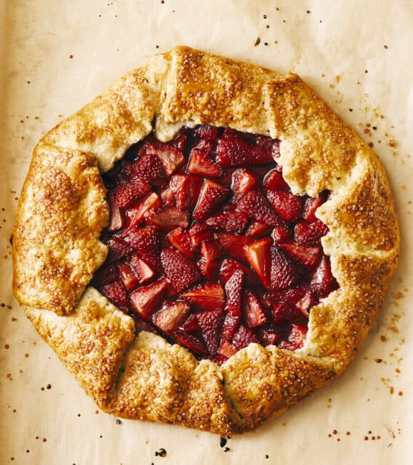 Strawberry Galette from The Secret Ingredient Cookbook by Kelly Senyei