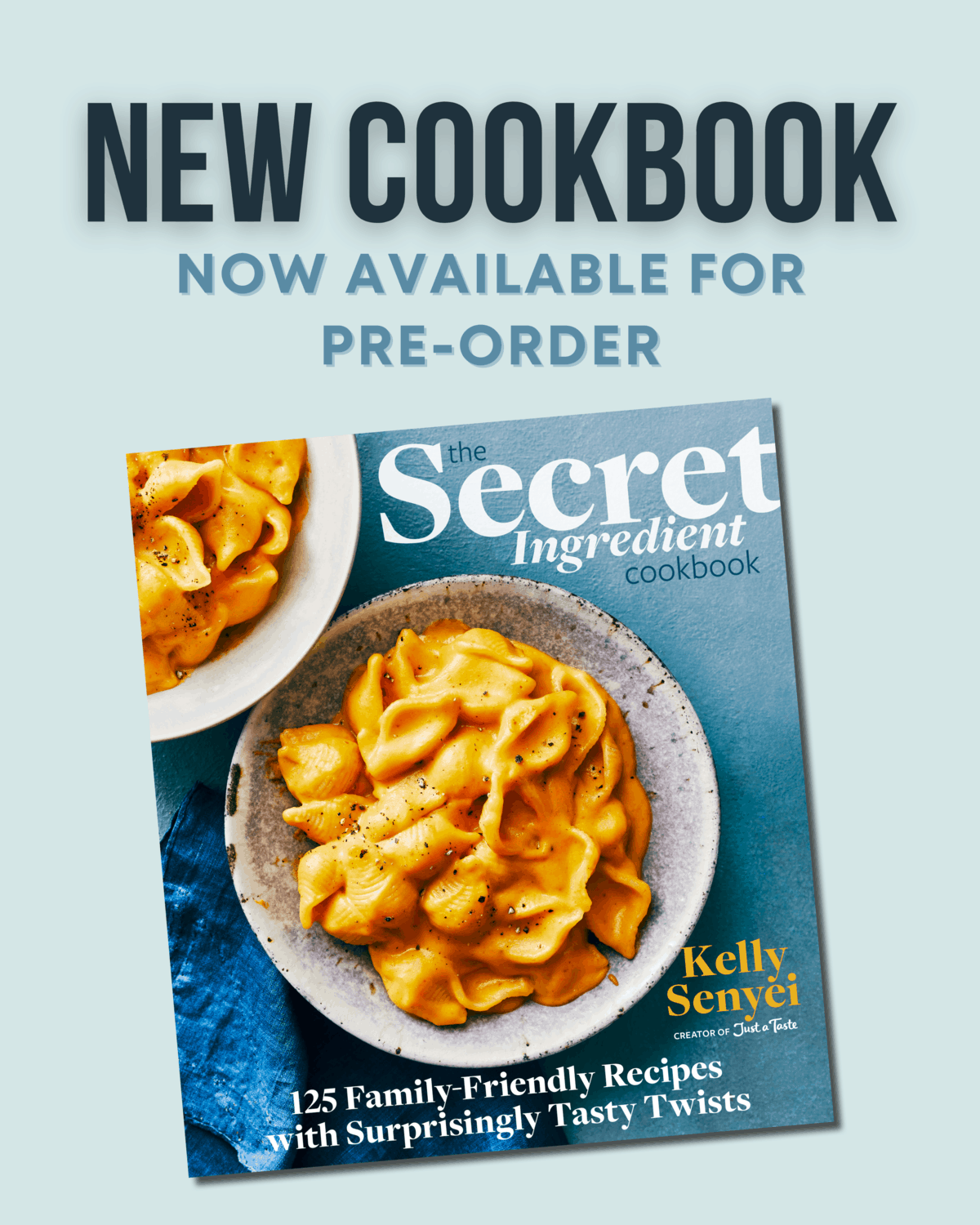 The Secret Ingredient Cookbook is now available for pre-order