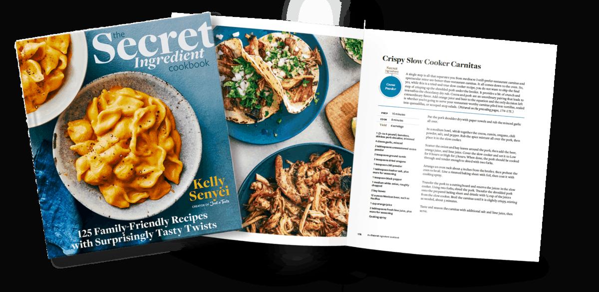 Sample recipe from The Secret Ingredient Cookbook