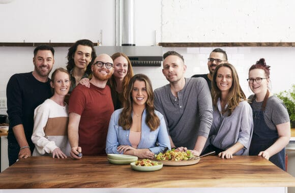 The food photographer, food stylists and prop stylists for The Secret Ingredient Cookbook photo shoot