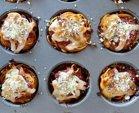 Easy Cheesy Spaghetti Cupcakes