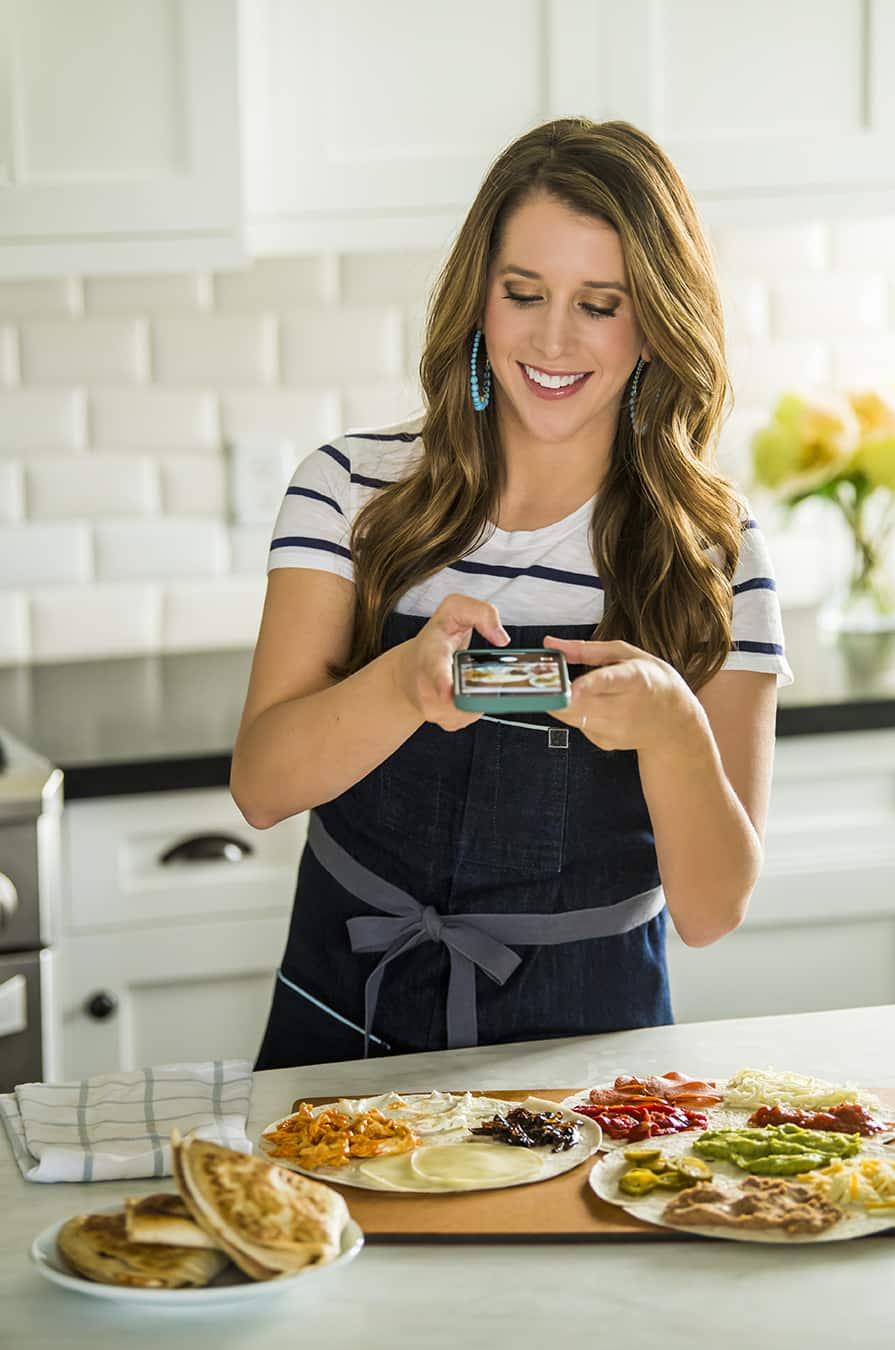 Kelly Senyei making the TikTok tortilla wrap trend
